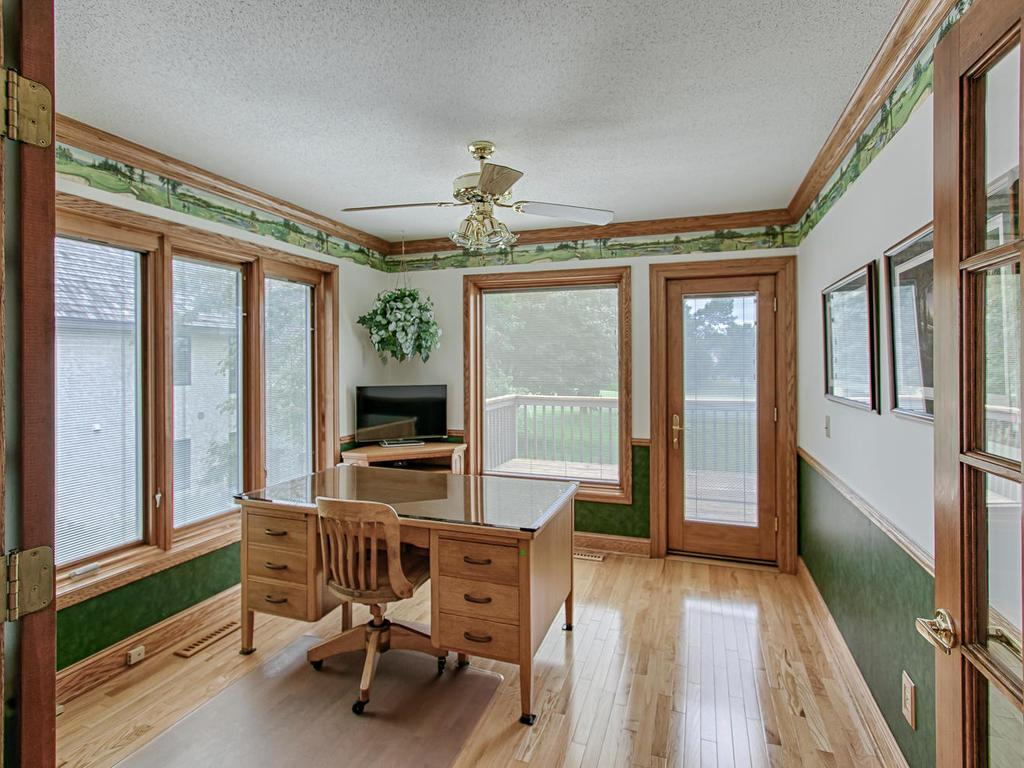 Bright office/sun room with great views