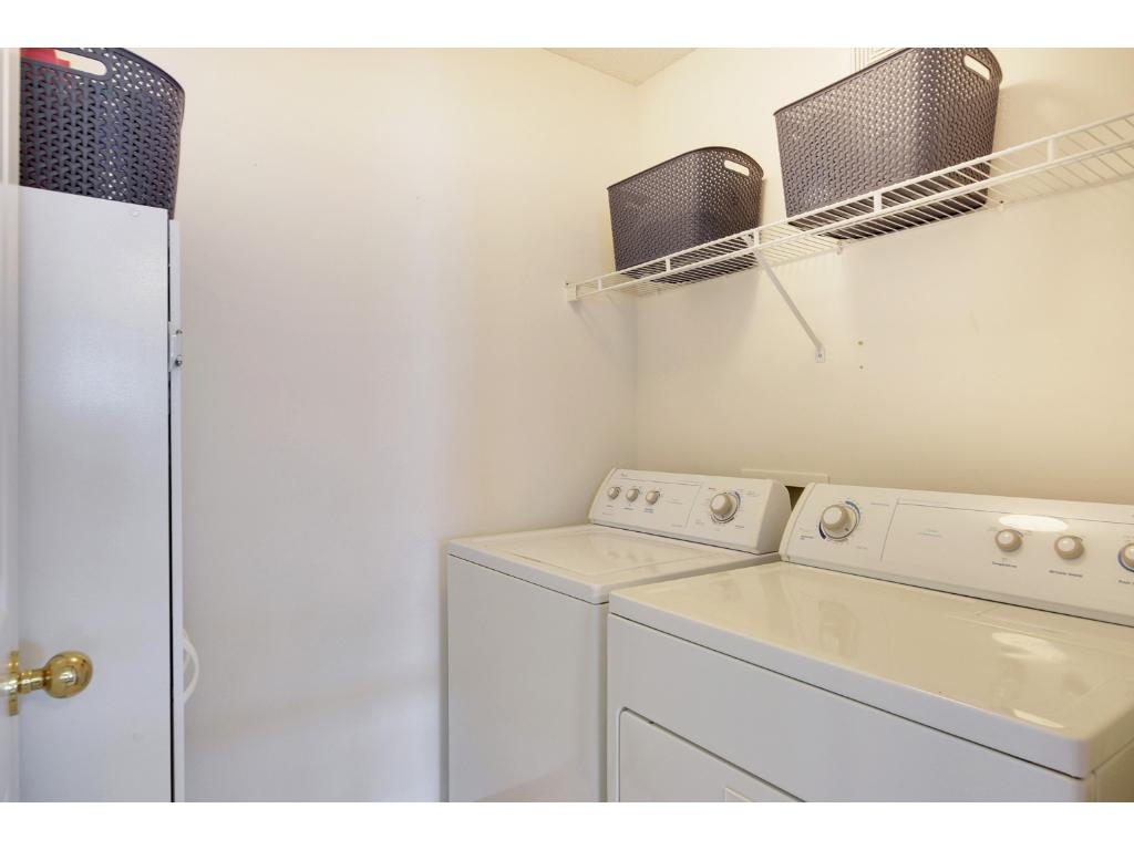 Convenient upper level laundry