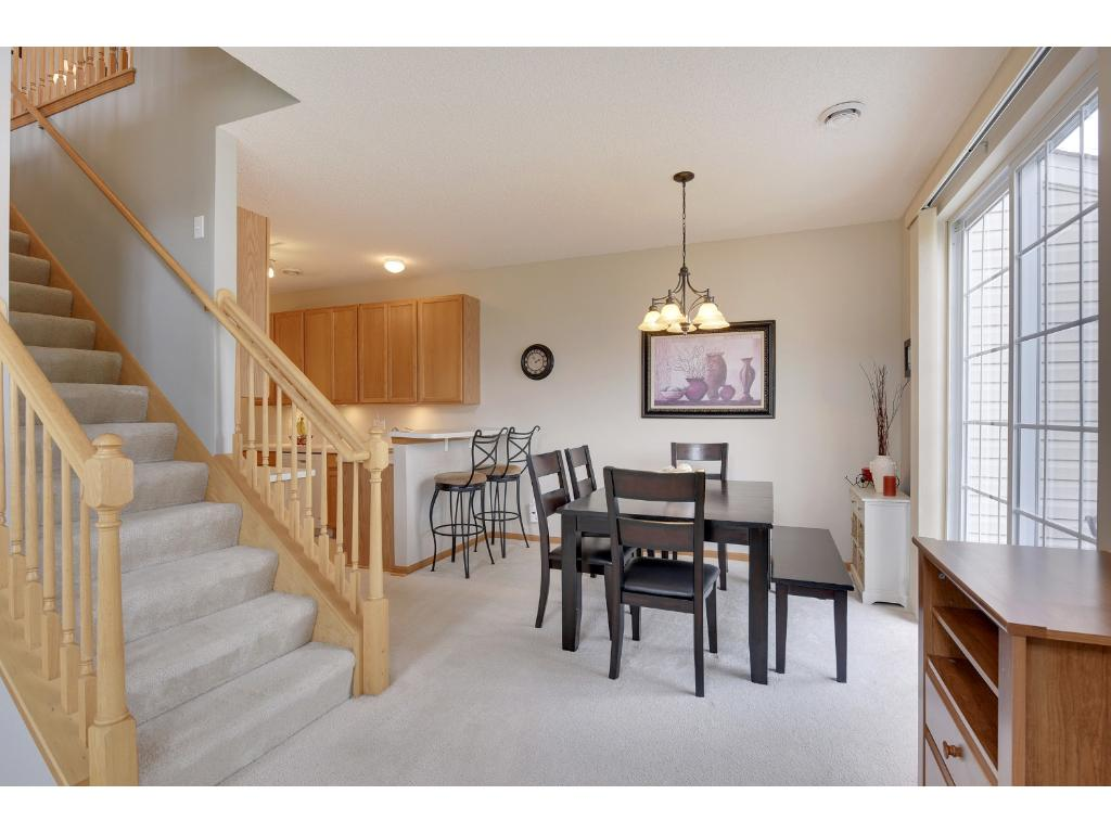 Dedicated dining  with adjacent walkout to your private patio