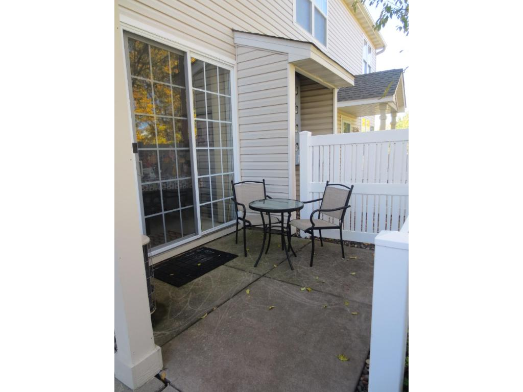 Private patio, great for summer dining & grilling