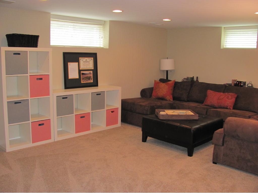 Another view of the new family room.