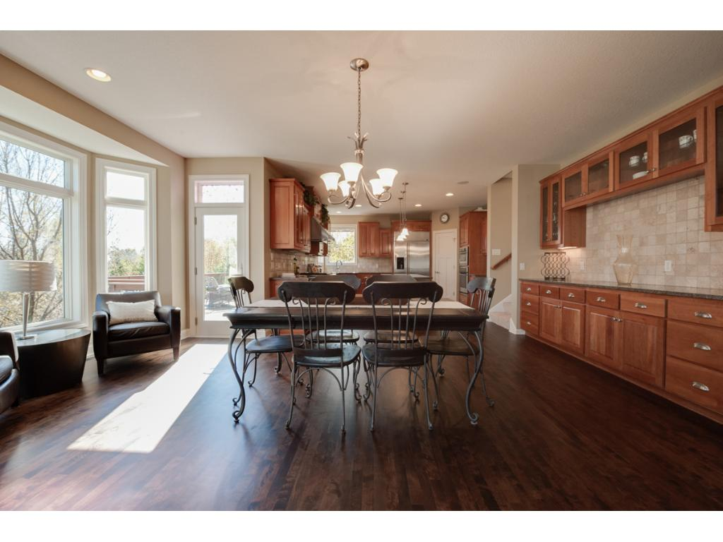 The informal dining room is spacious and contains a large built-in buffet. Again, a perfect floor plan for entertaining!
