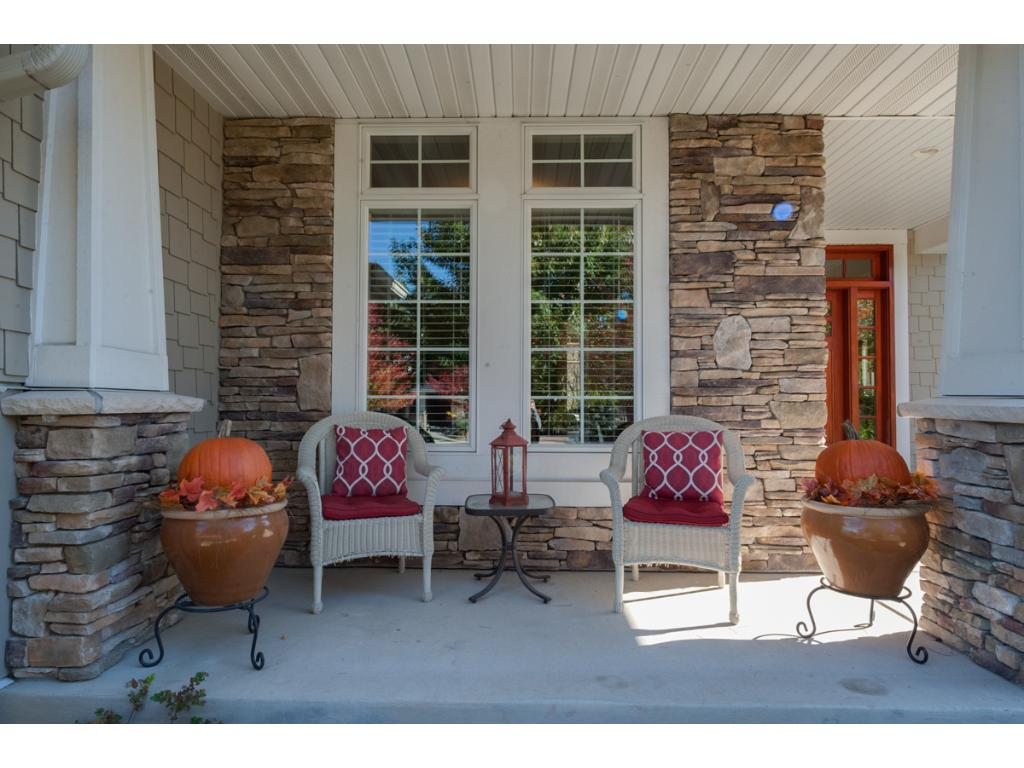 Large and inviting front porch area