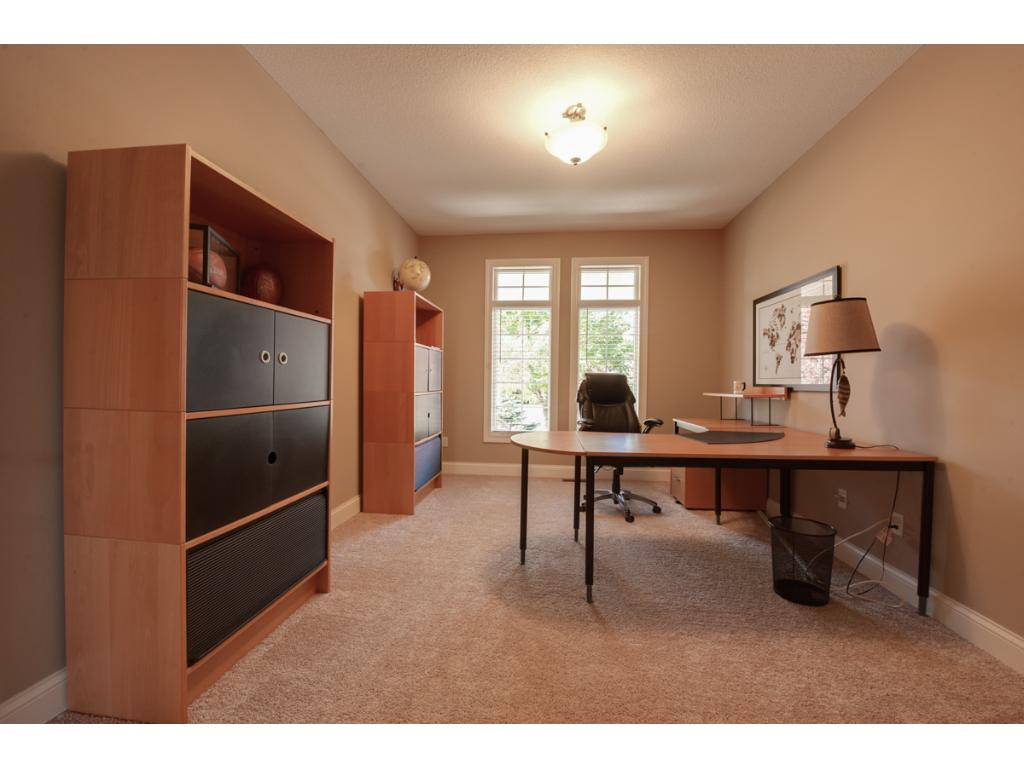 The main floor office is conveniently located near the front entry, and features brand new carpet (installed Autumn, 2016).