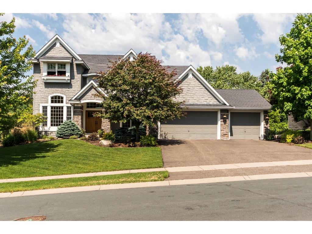 Great curb appeal with the craftsman style exterior.