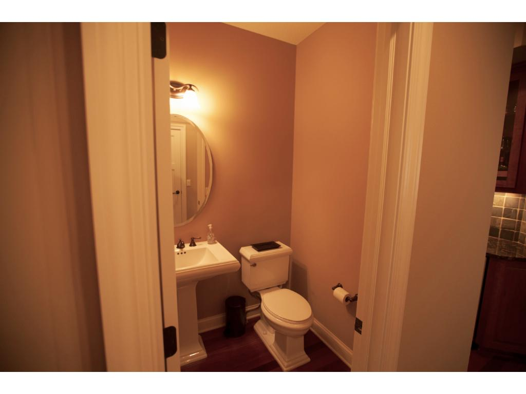 Main level powder room.