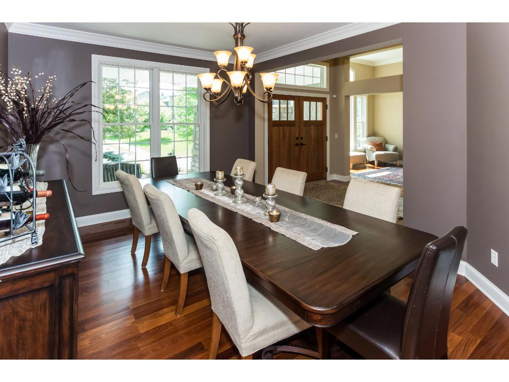 Large formal dining area with lots of natural light.