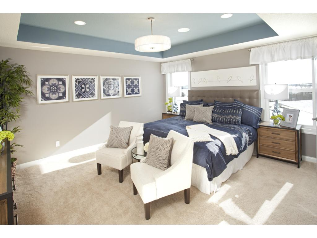 Photo of a Model Home. Owner's suite