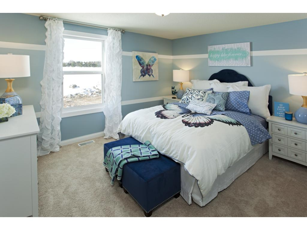 Photo of a Model Home. Bedroom 2