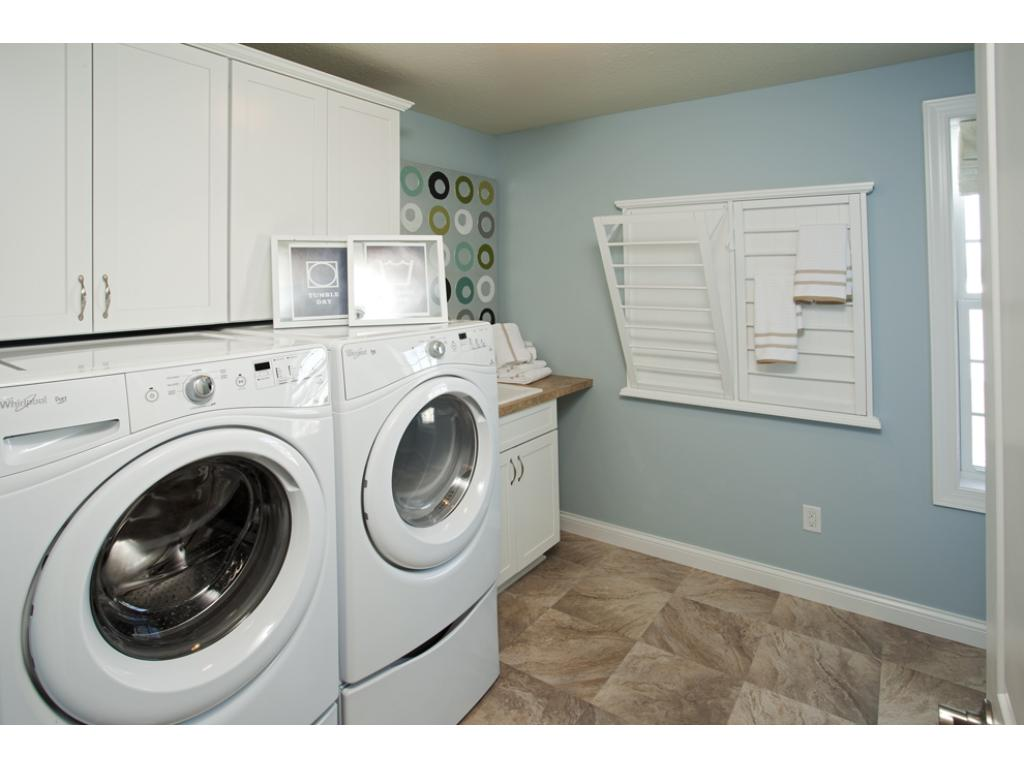 Photo of a Model Home. Super Laundry located on bedroom level