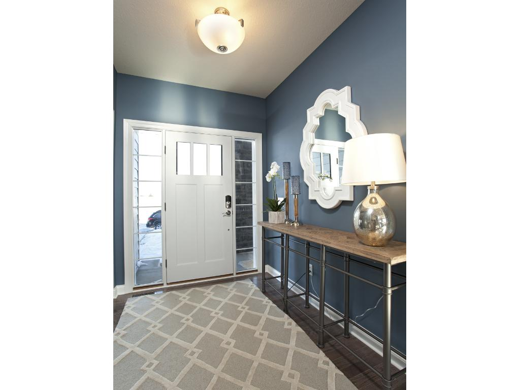 Photo of a Model Home. Foyer area.