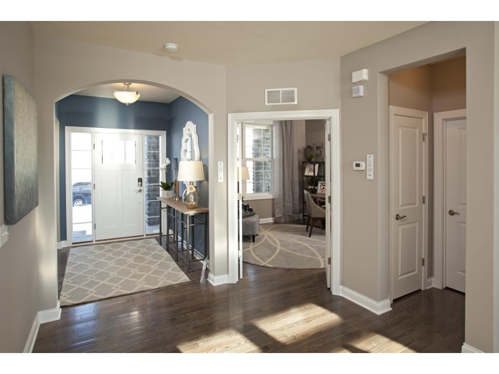 Photo of a Model Home. Flex Room off a Foyer