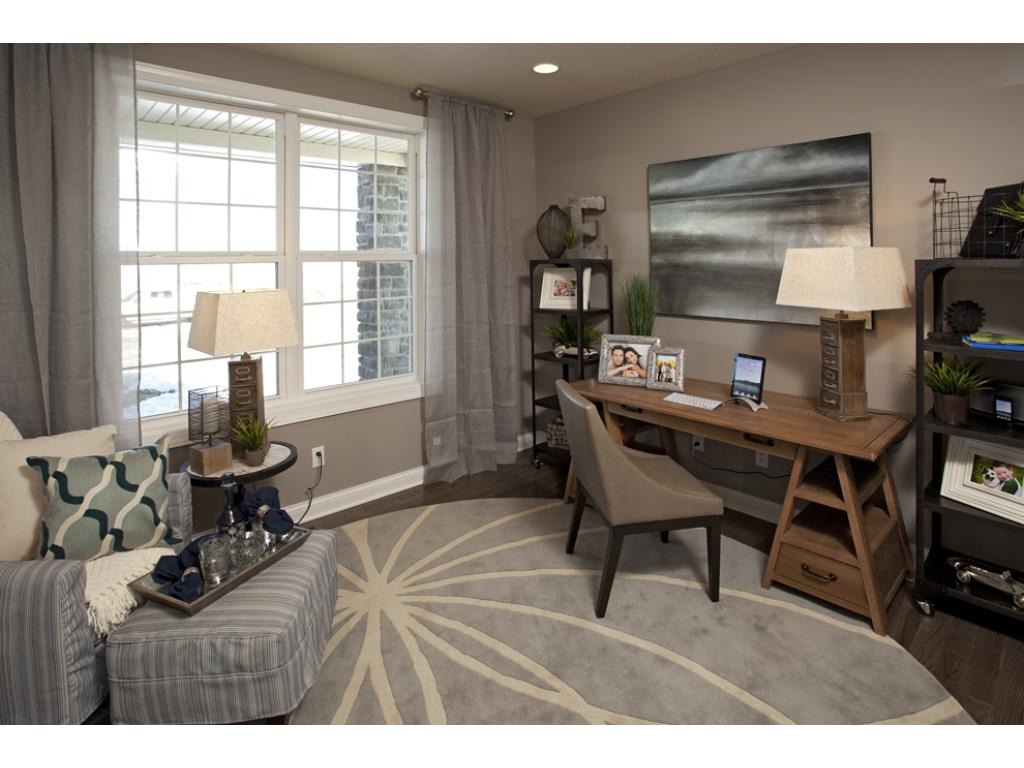 Photo of a Model Home. Flex Room/Office space