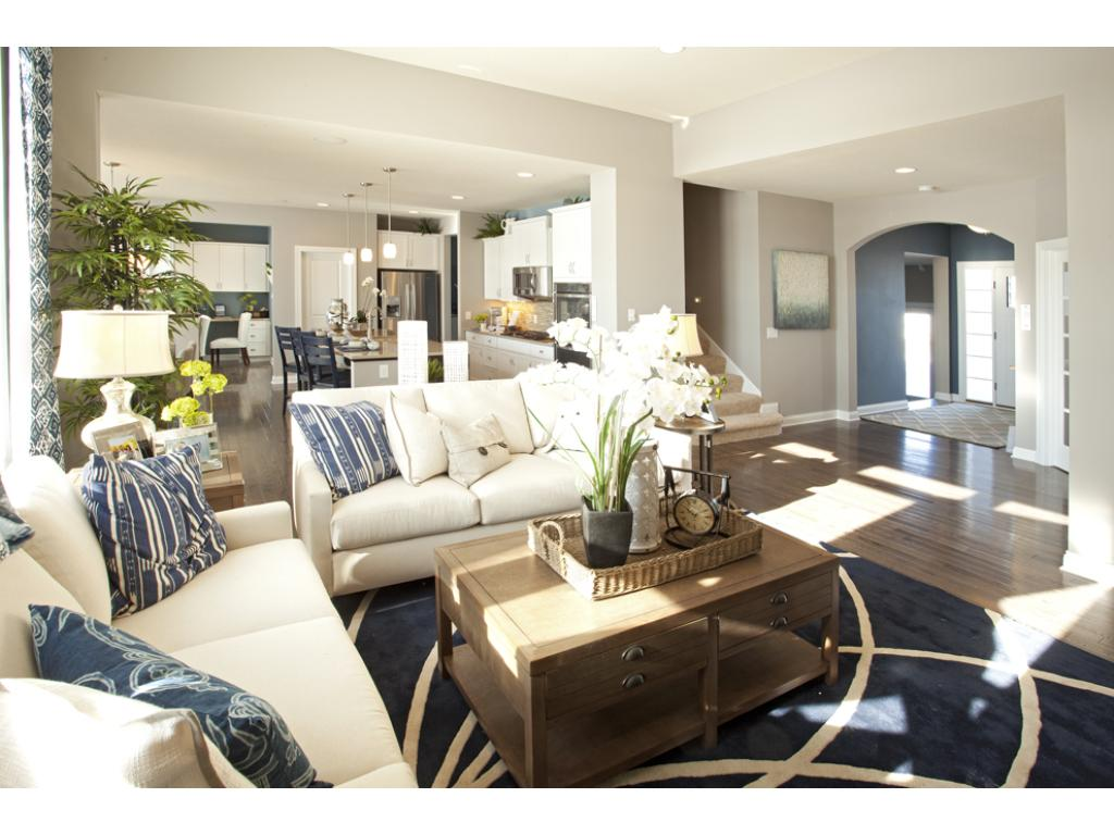 Photo of a Model Home. Open and airy floor plan