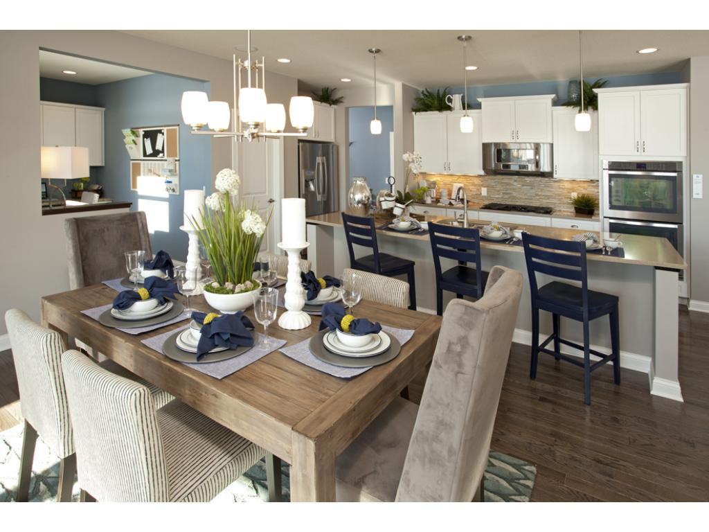 Photo of a Model Home. Kitchen and Caf area