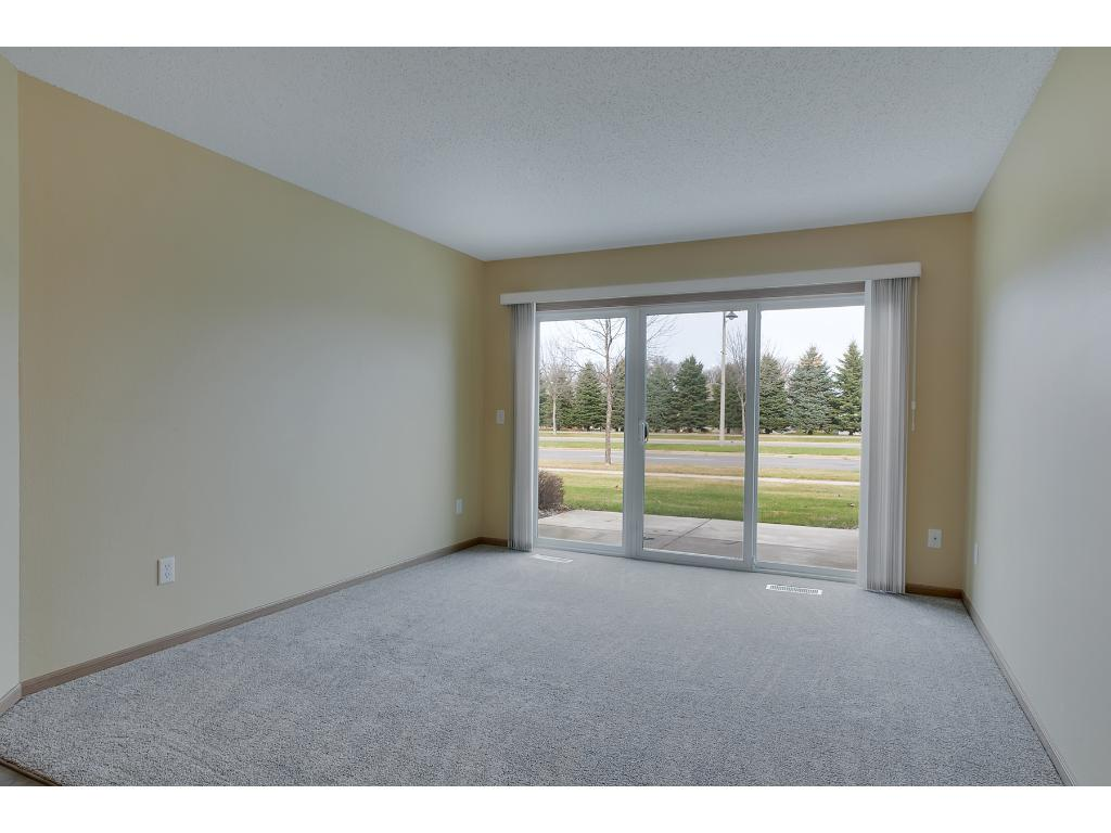 Slider to the patio brings in lots of natural light!