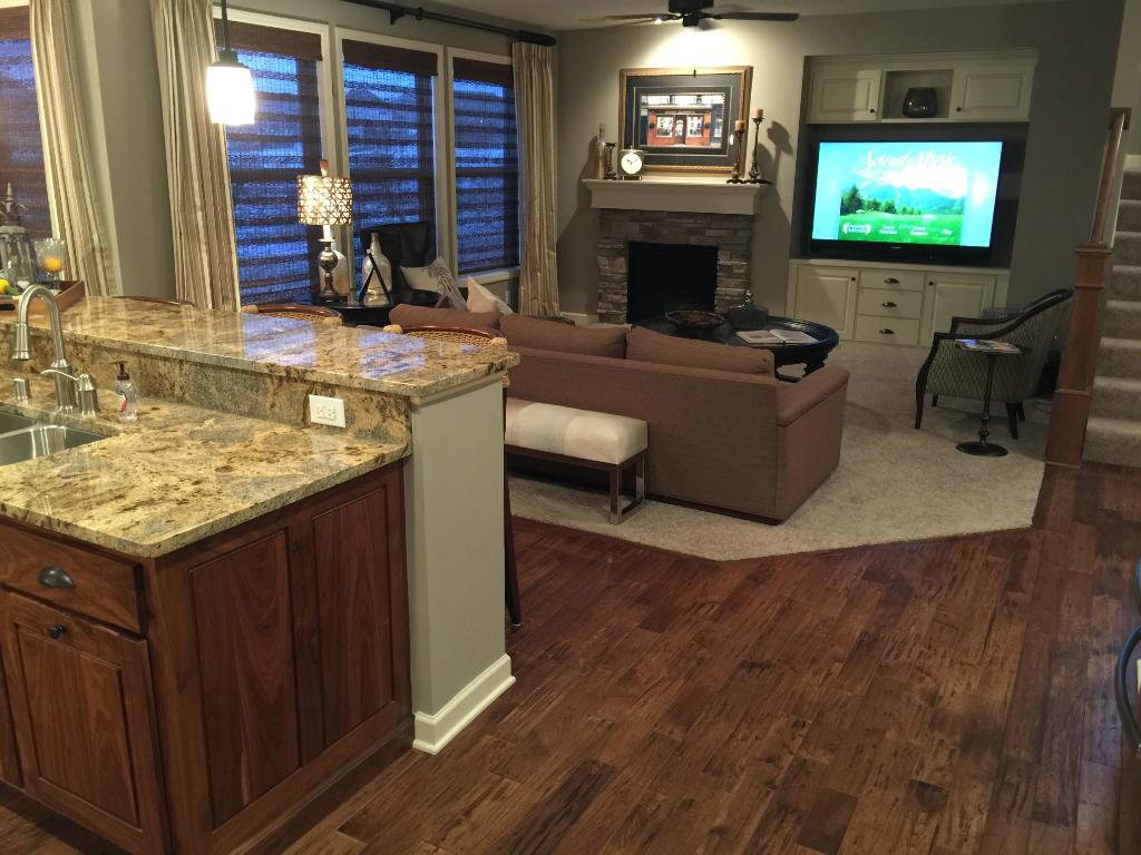 Beverage center just off the kitchen!This home is ready to entertain!