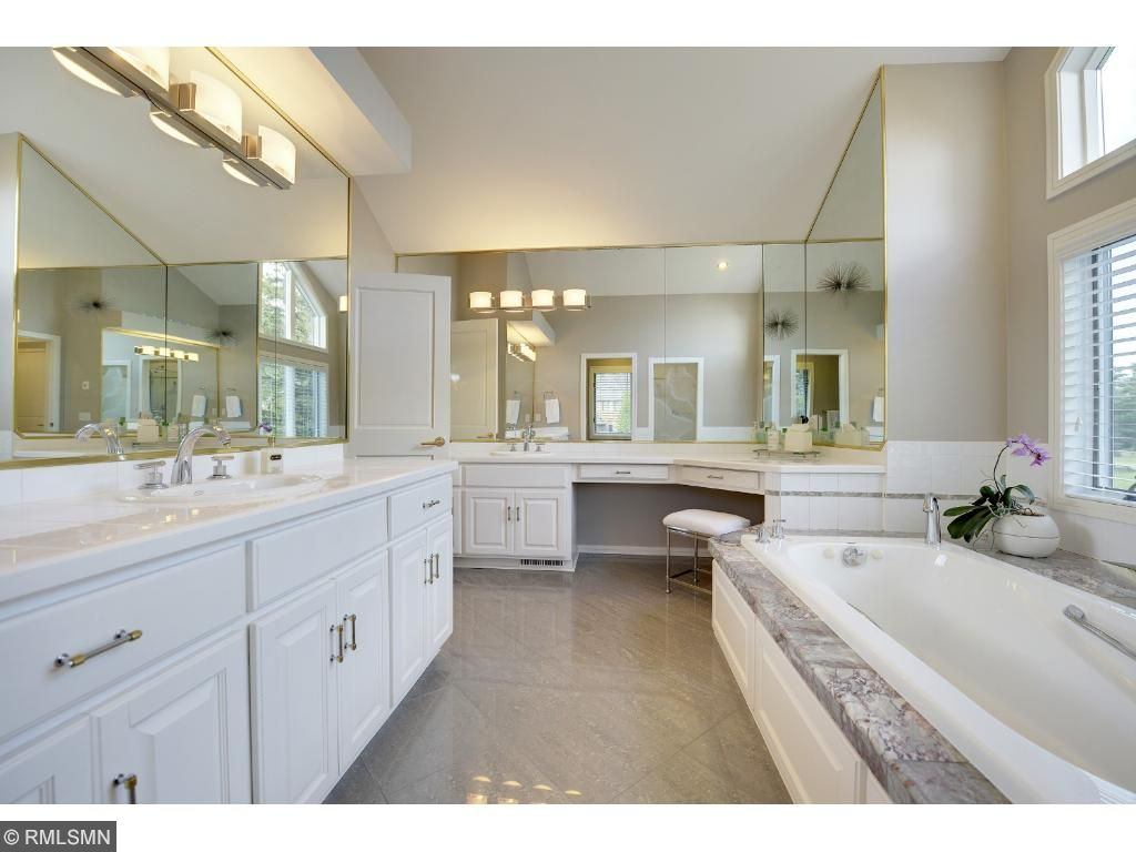 Spacious master suite with luxurious bathroom