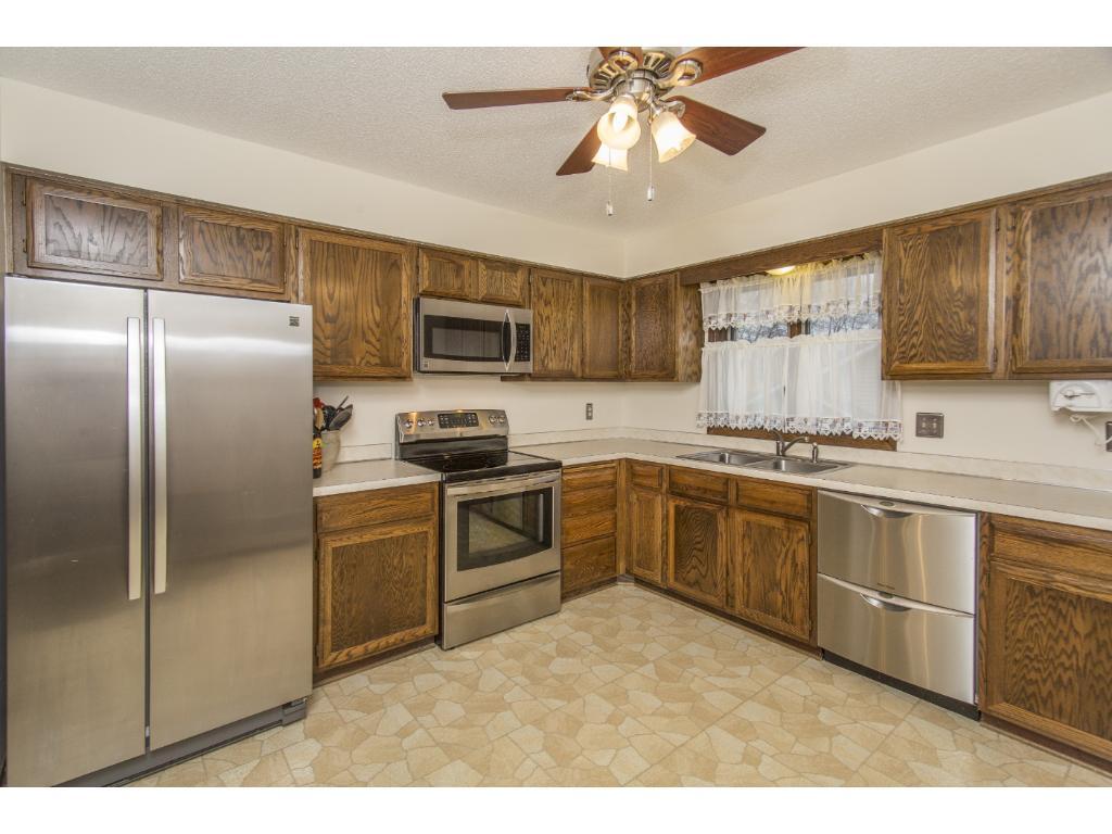 Kitchen has SS appliances