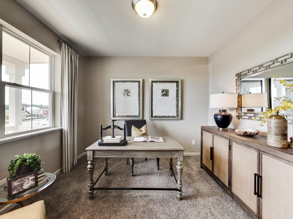 Every household can use office space for an efficient work station, for a day of working from home or just a great place to keep everyone organized. Photo of a finished model, actual home may differ.