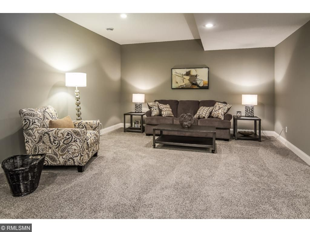 Full Basement with 5th bedroom, rec. room, bathroom, and storage area!