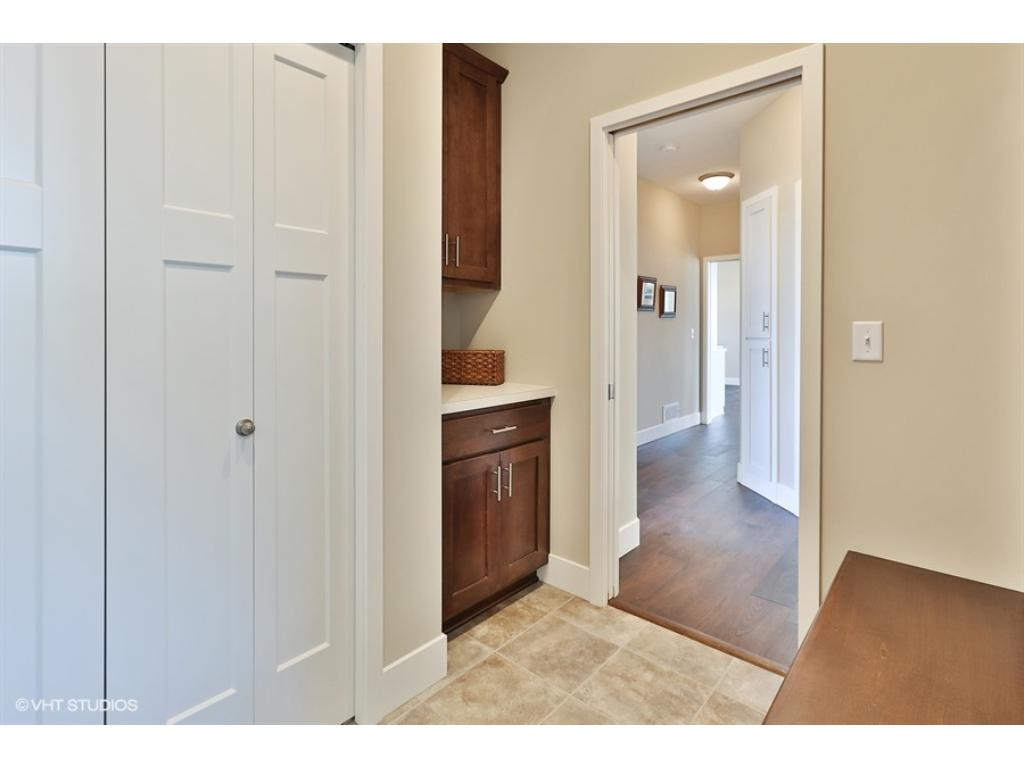 Mud room off garage with built in