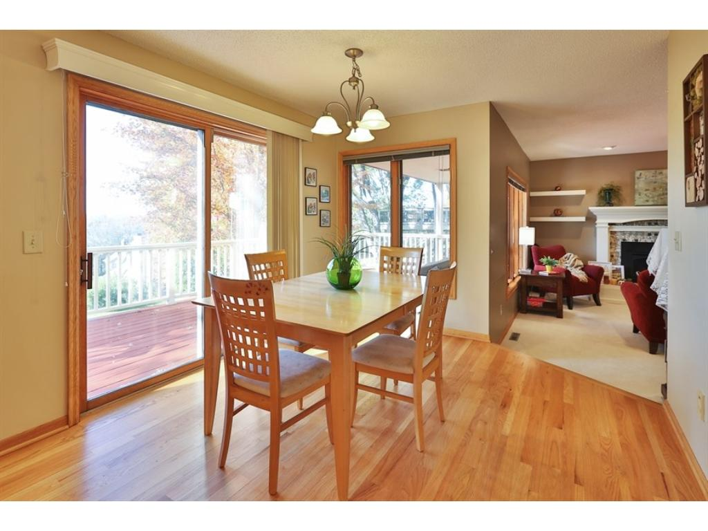 Informal Dining in the Kitchen has hardwood floors with a patio slider leading to a wonderful Deck with great views.