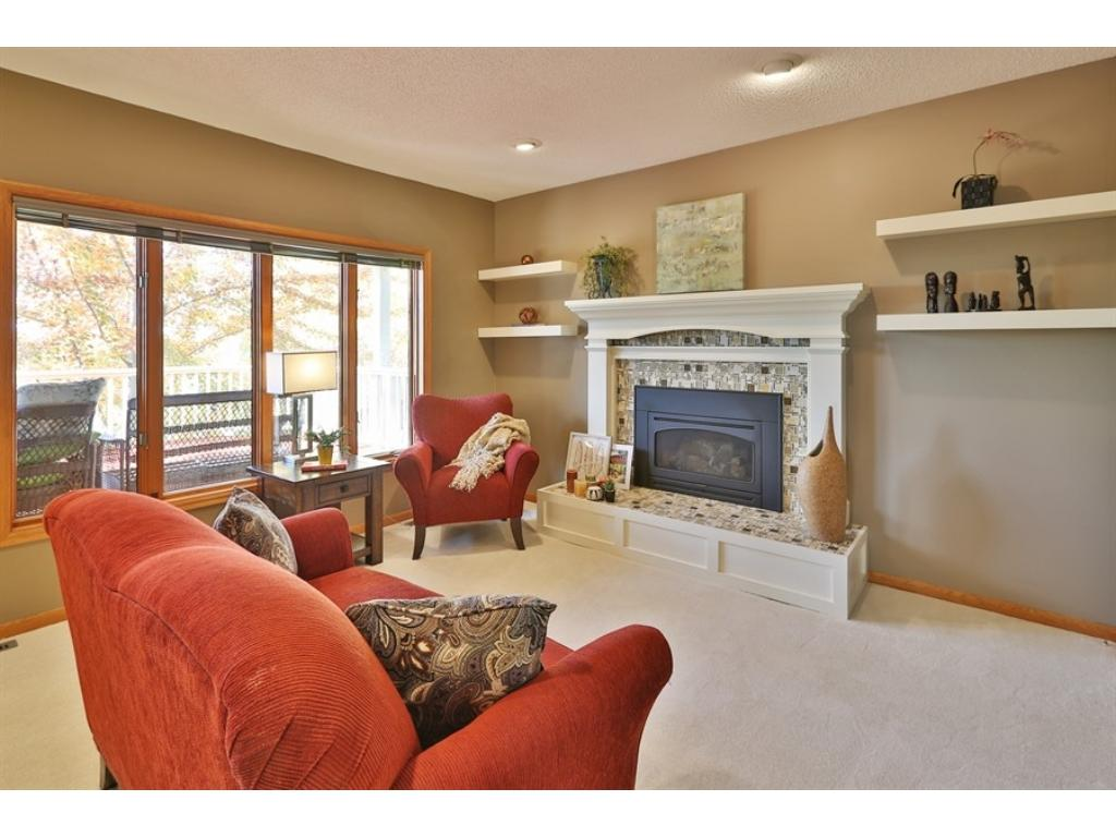 The main floor Family Room has a gas fireplace.