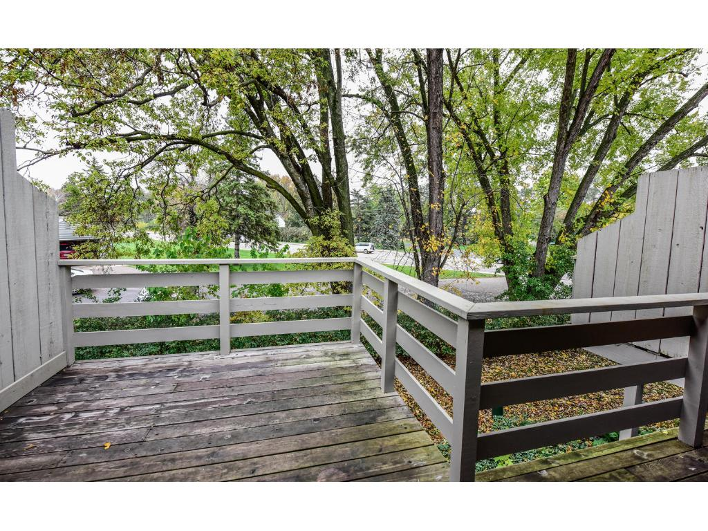 Spacious deck with lots of privacy!