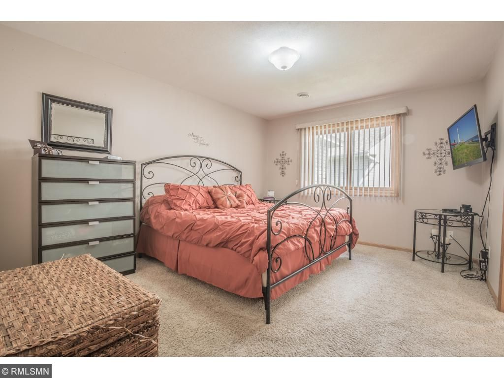 Main level master bedroom with large walk-in closet.
