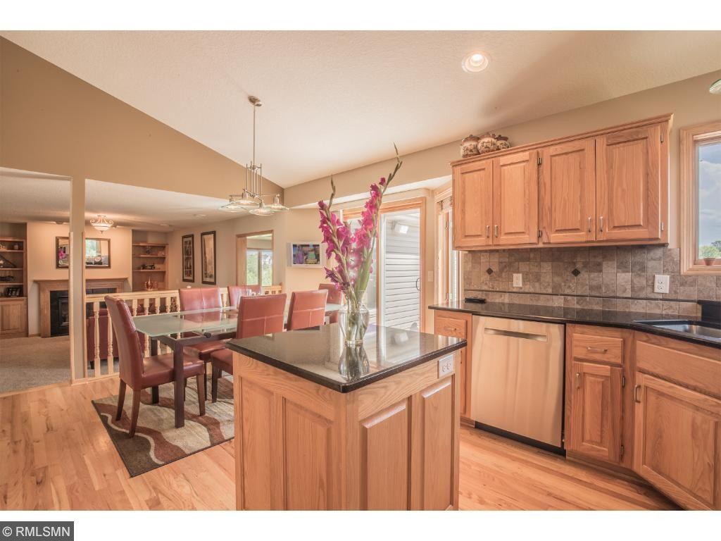 Beautiful hardwood floors: foyer, office, dinette, and kitchen.