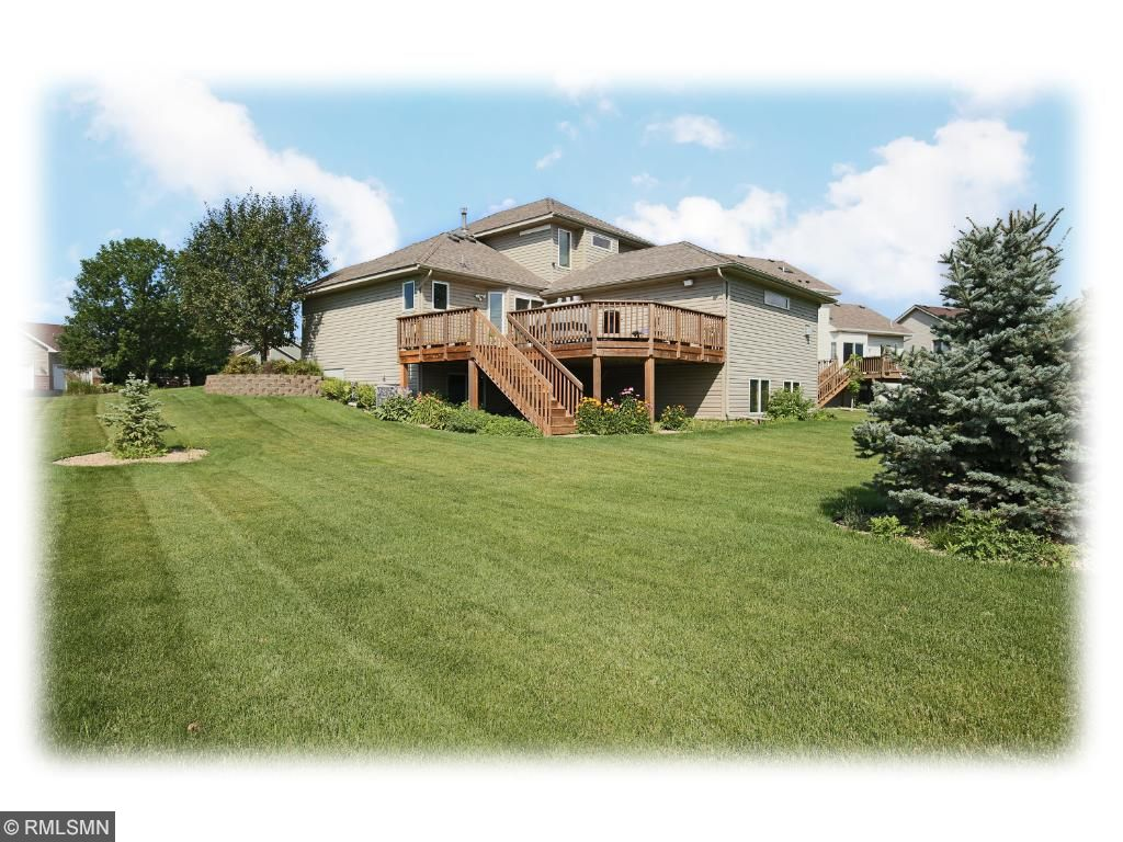 Impressive  main level deck makes outdoor cooking, recreation and entertaining a joy.  Easy access to trail system.