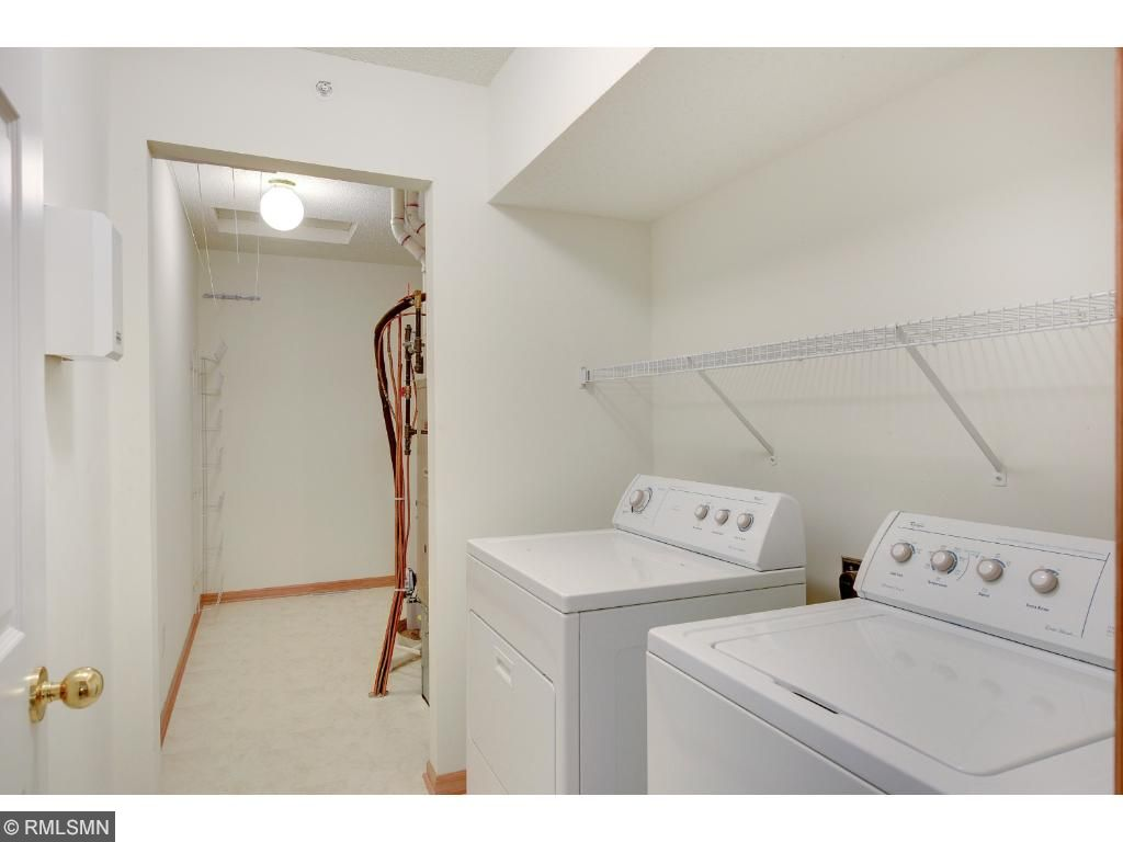 Laundry room followed by the mechanical room.