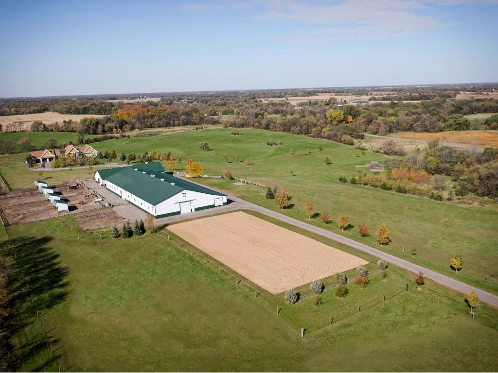 Magnificent rolling countryside surrounds this one of a kind estate. For the serious horse professional or amateur enthusiast.