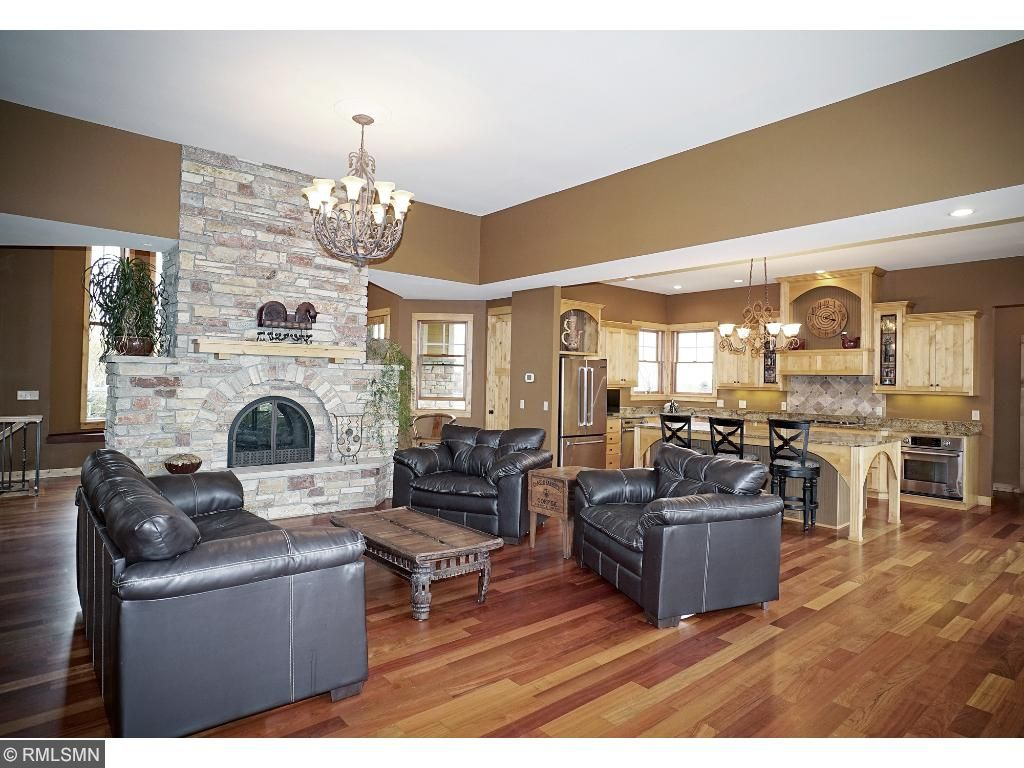 Great room, Dining area and kitchen.