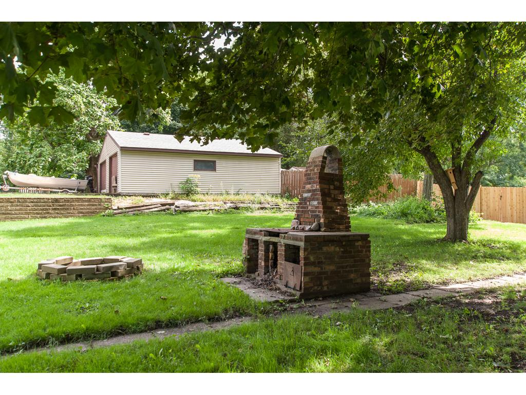 The Original Backyard Brick Fireplace Can Be Restored or Remodeled