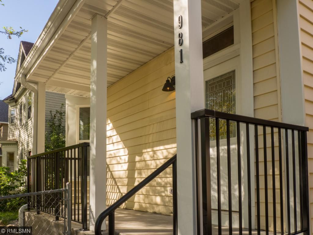 original porch was tore down and re-poured and added a maintenance free aluminum railing.
