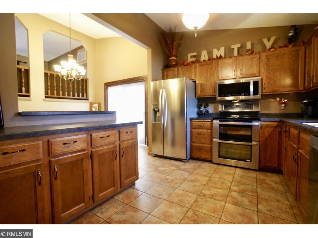 Beautiful open concept kitchen featuring stainless steel appliances.