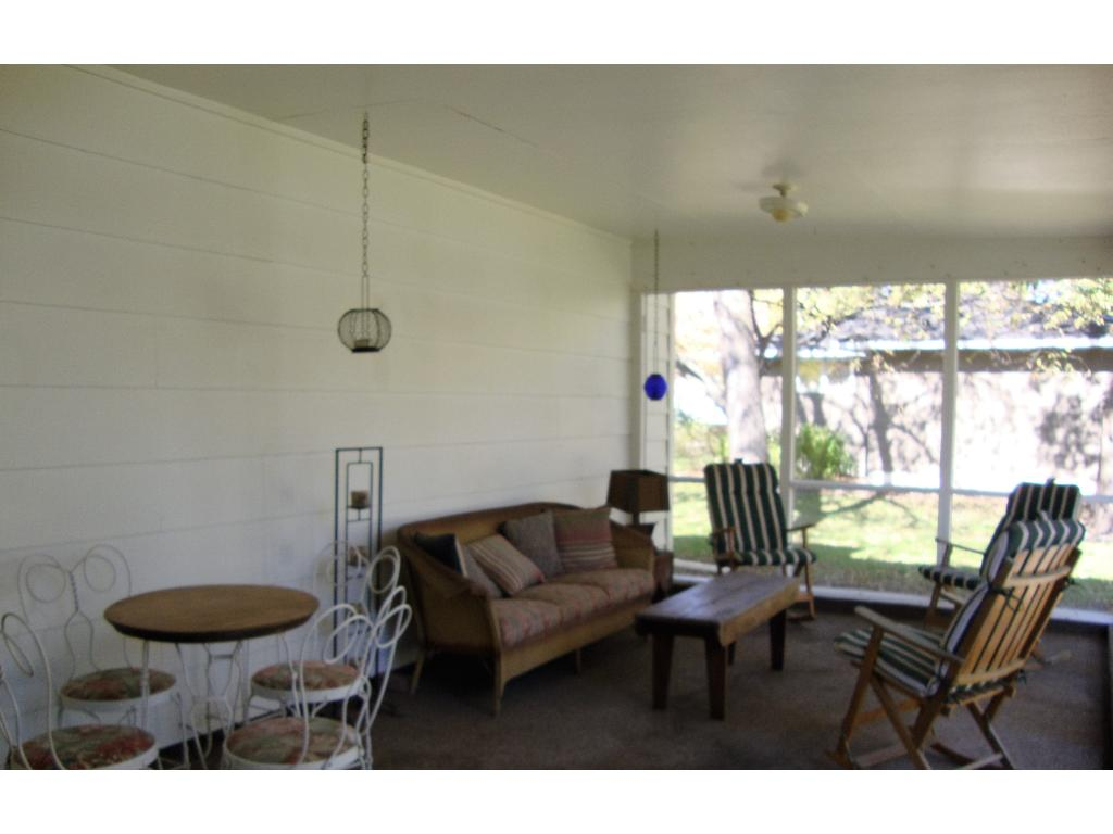 Private screened in porch