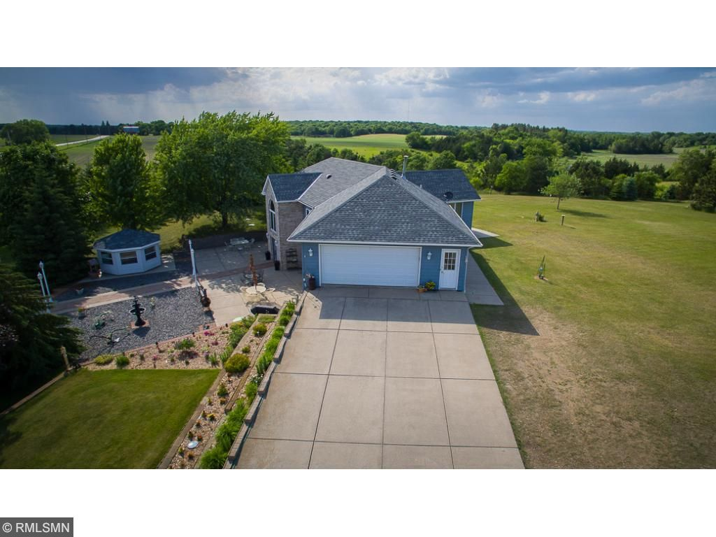 North Fork Ranch....36 beautiful acres.  Front patio with turn-around driveway for easy access to lower level.