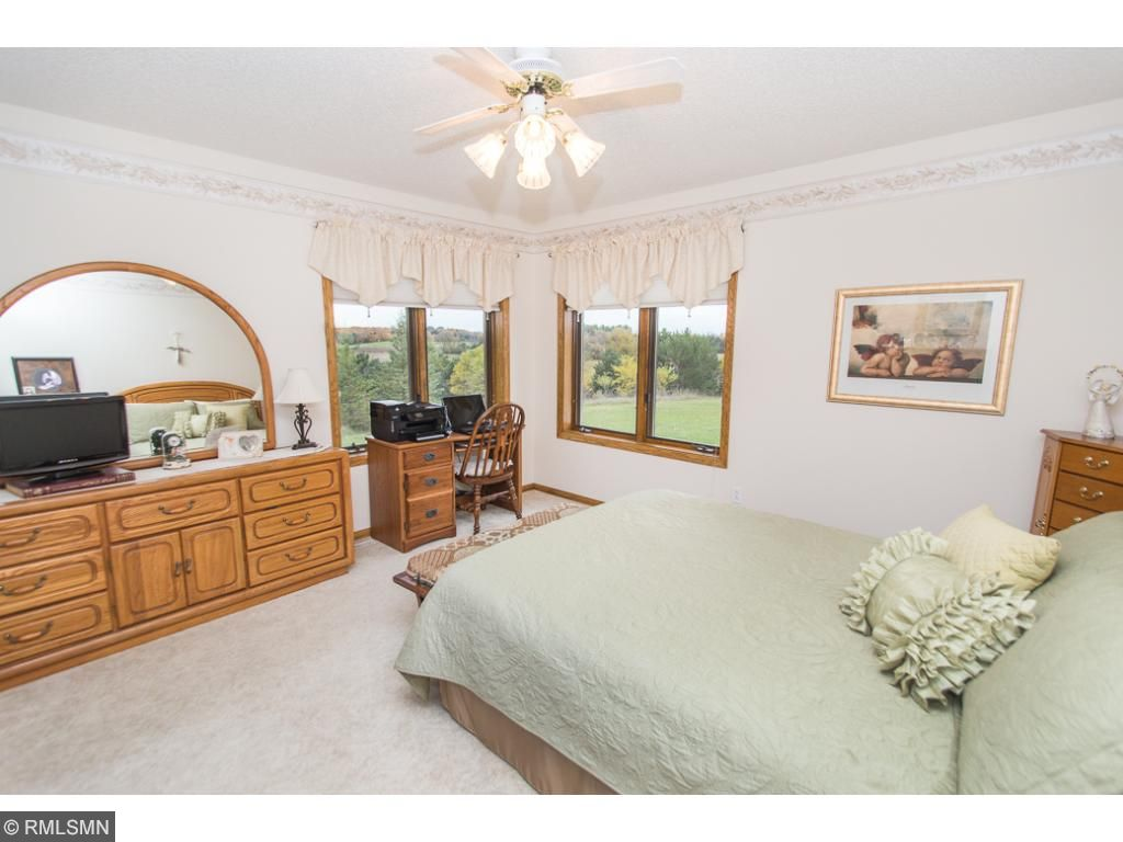 Master bedroom with great views, walk-in closet and private bath.