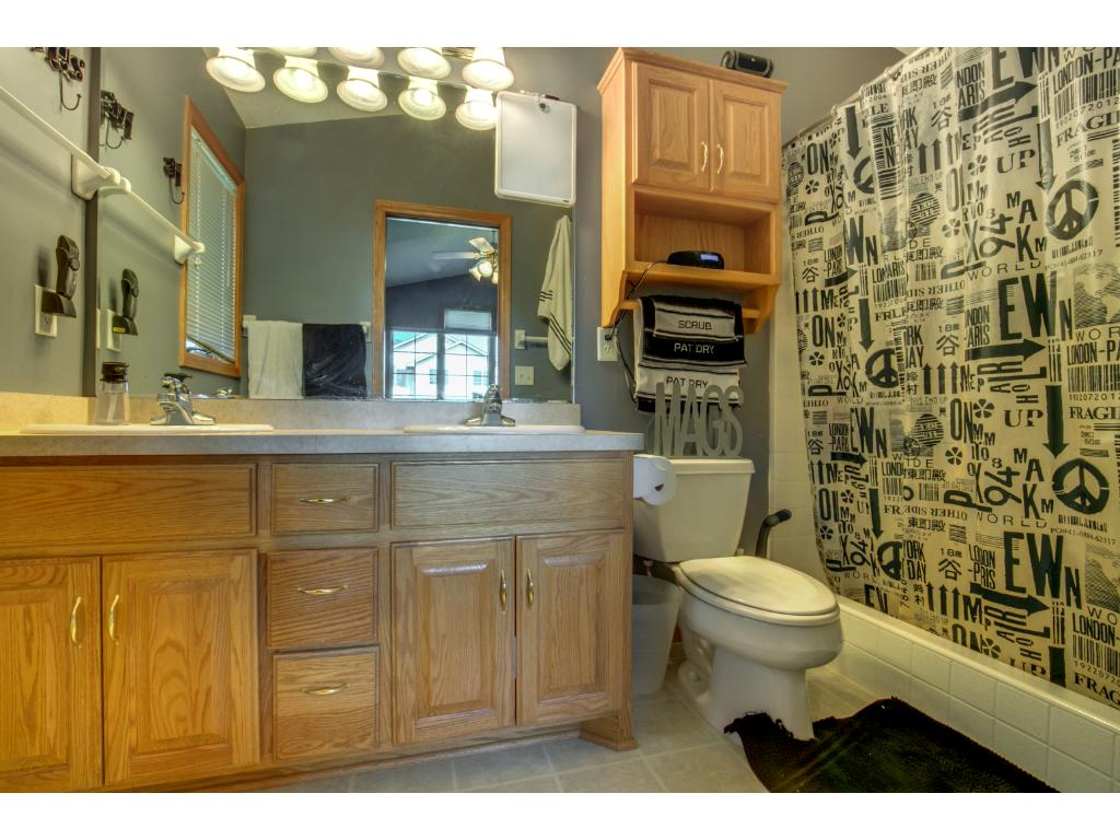 Master bathroom is private and spacious