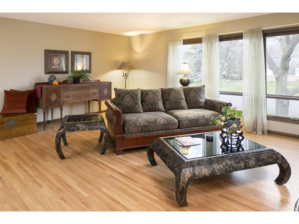 Large dining room with large sliding door to rear deck for ample entertaining options.