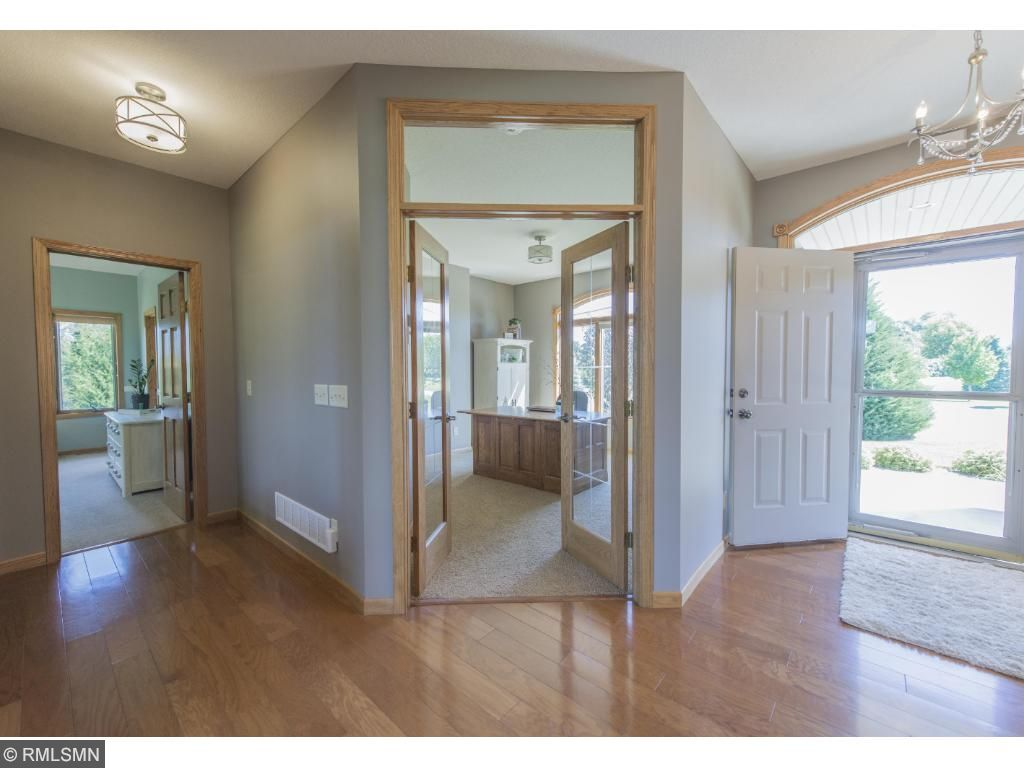 Bright open entry welcomes your friends and family in this well designed home. Ready to move in and completely finished.