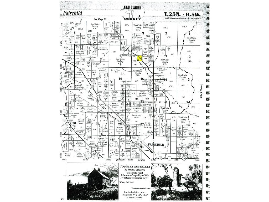 County map shows the location of the property within. If you prefer longer ATV rides, public trails are just 1 mile away! Coon Fork Campground w/ great swimming lake & park/picnic facilities is nearby. Larger Lake Eau Claire is within 10 miles.