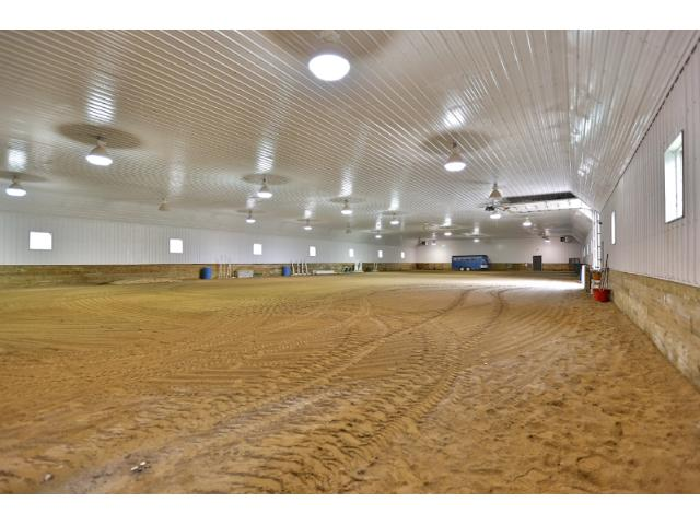 inside heated riding arena