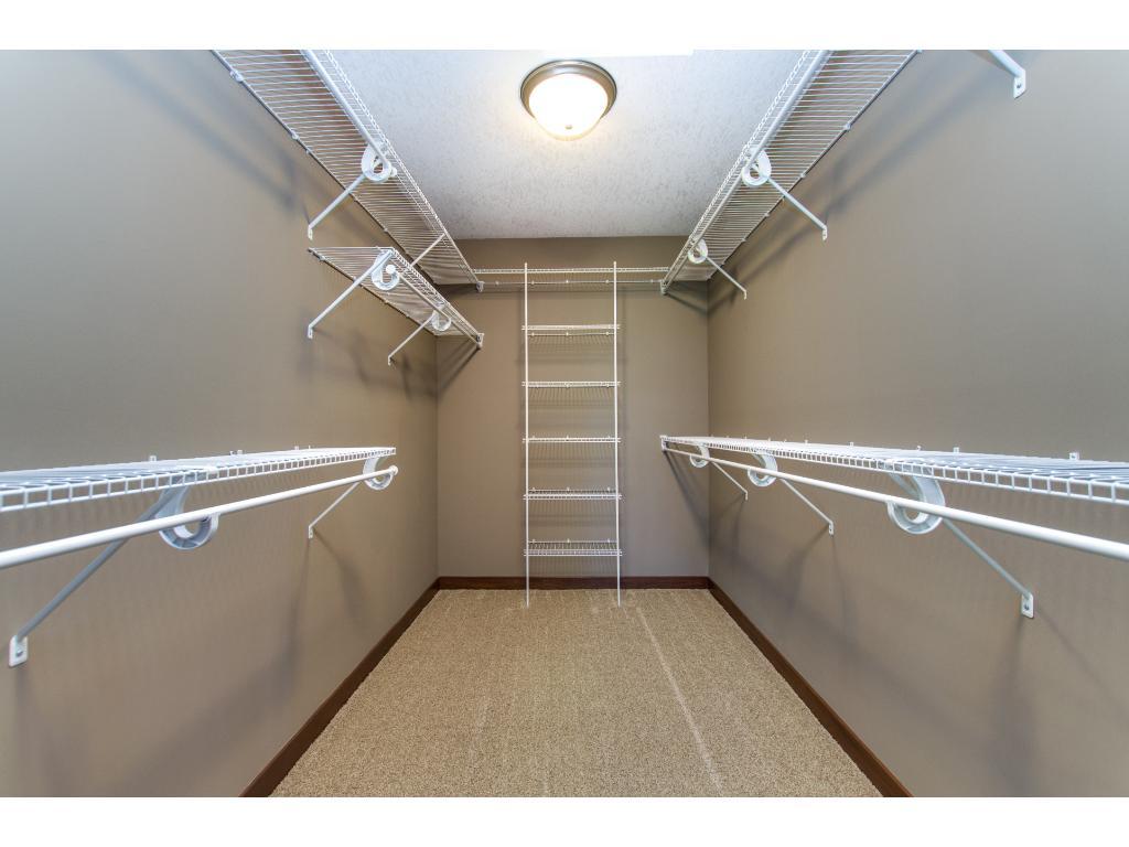 Owner's Suite walk in closet.