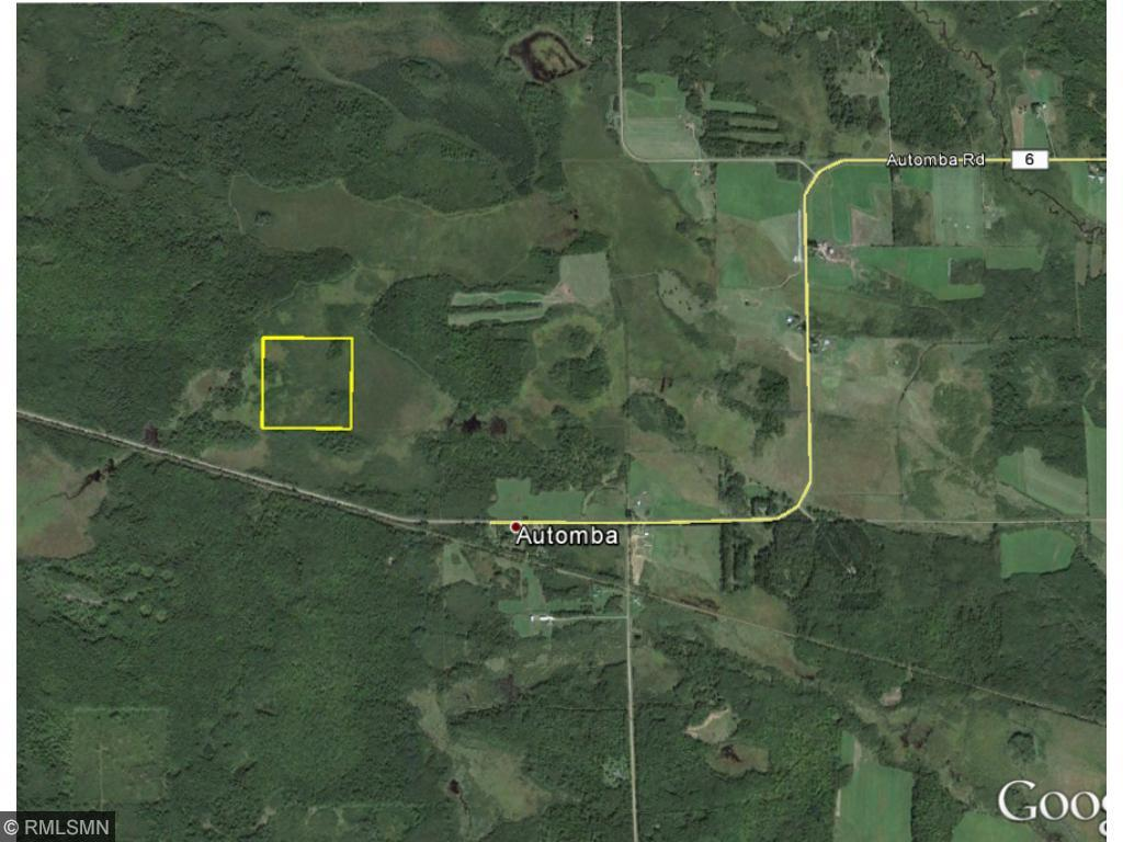 Aerial map showing 40 ac and the surrounding area, showing a large amount of agriculture to the east. This is very beneficial for wildlife in the area in that it provides large amounts of food especially for deer, sharp-tail grouse and wild turkeys.
