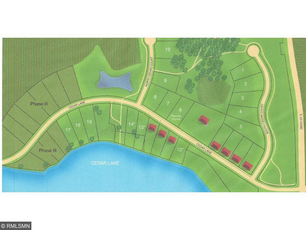 Grandview Arbor of Cedar Lake in Scott County has lake front and lake access lots!