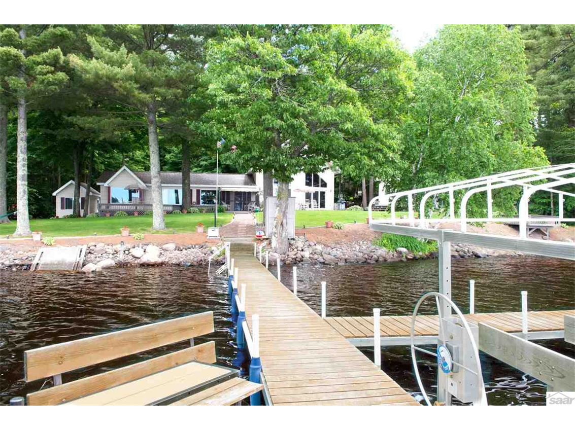Enjoy boating or simply sitting on your dock watching the sunset. 11683 E. Point Rd., Lake Nebagamon